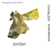 jordan map in geometric... | Shutterstock .eps vector #432781411