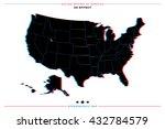 stereoscopic effect united... | Shutterstock .eps vector #432784579