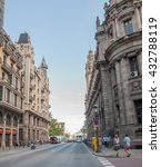Small photo of BARCELONA, SPAIN - MAY 27, 2016: Barcelona City Center, Spain. Barcelona is popular for tourists and locals alike.
