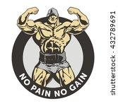 bodybuilder vector image  front ... | Shutterstock .eps vector #432789691