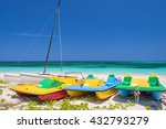 Colorful Pedal Boats  Cayo...