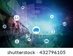 modern transportation and... | Shutterstock . vector #432796105