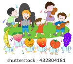 a concert of a child and the... | Shutterstock .eps vector #432804181