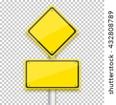 illustration of road yellow... | Shutterstock . vector #432808789