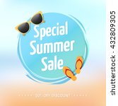special summer sale label | Shutterstock .eps vector #432809305