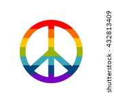 peace symbol in rainbow colors  ... | Shutterstock .eps vector #432813409