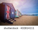 brighton beach bathing boxes ... | Shutterstock . vector #432814111