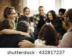 team huddle harmony...   Shutterstock . vector #432817237