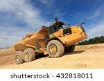 Dumper In Action In A Quarry