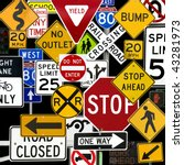 montage of numerous traffic... | Shutterstock . vector #43281973