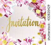 vector invitation template with ... | Shutterstock .eps vector #432820429
