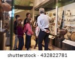 students looking at artifacts... | Shutterstock . vector #432822781