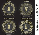luxury logo collection design... | Shutterstock .eps vector #432824275