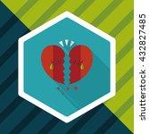 valentine's day broken heart... | Shutterstock .eps vector #432827485