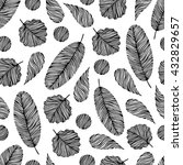 seamless pattern with hand... | Shutterstock .eps vector #432829657