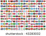 216 official flags of the world ... | Shutterstock .eps vector #43283032