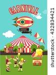 vector illustration carnival... | Shutterstock .eps vector #432834421