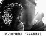 bride mixes her hair standing... | Shutterstock . vector #432835699