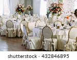 fancy tables with the bouquets... | Shutterstock . vector #432846895