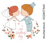 wedding ceremony   bride and...   Shutterstock .eps vector #432847564