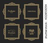 exclusive decor elements or...   Shutterstock .eps vector #432853054