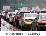 typical scene during rush hour. ... | Shutterstock . vector #43285918