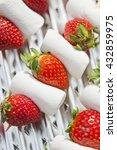 fresh strawberries with... | Shutterstock . vector #432859975