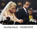 religious bride and groom...   Shutterstock . vector #432862045