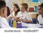 primary school children work... | Shutterstock . vector #432862897