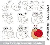 drawing tutorial for children....   Shutterstock .eps vector #432865225