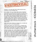 confidential document template | Shutterstock .eps vector #43286836