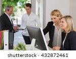portrait of business people... | Shutterstock . vector #432872461