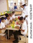 primary school kids eat lunch...   Shutterstock . vector #432876649