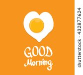 vector good morning concept.... | Shutterstock .eps vector #432877624