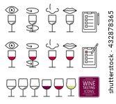 set of icons for wine tasting.... | Shutterstock .eps vector #432878365