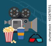 cinema design. movie concept.... | Shutterstock .eps vector #432878551