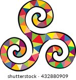 stained celtic knot  isolated... | Shutterstock .eps vector #432880909