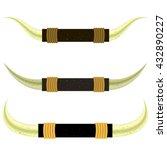 set of different bull horns... | Shutterstock . vector #432890227