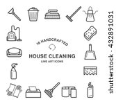 set of 16  house cleaning icons ... | Shutterstock .eps vector #432891031