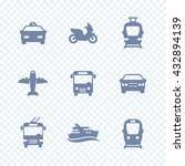 passenger transport icons ... | Shutterstock .eps vector #432894139