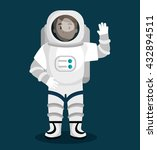 astronaut in the solar system... | Shutterstock .eps vector #432894511
