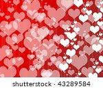 san valentine hearts   Shutterstock . vector #43289584