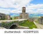 Small photo of Clock tower in he Gjirokaster Castle in Albania.
