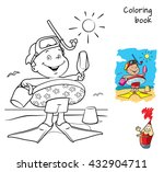 cartoon little boy with...