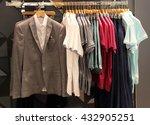 men's clothing in store | Shutterstock . vector #432905251
