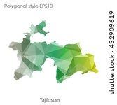 tajikistan map in geometric... | Shutterstock .eps vector #432909619