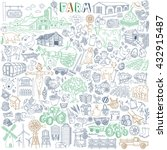 farm vector drawings collection.... | Shutterstock .eps vector #432915487