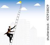 businessman or executive... | Shutterstock .eps vector #432918829