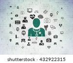 health concept  painted green... | Shutterstock . vector #432922315