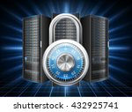 network safety concept   server ... | Shutterstock .eps vector #432925741
